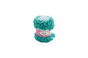 Puffy ombre batik 7420 - azúrová