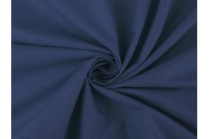Látka bavlnená - jednofarebná Tmavomodrá