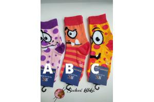 Veselé ponožky - v.35/38 - okato-zubaté