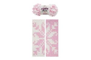 Puffy More 6267 - biela a ružová