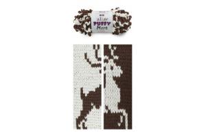 Puffy More 6288 - krémová a tmavohnedá