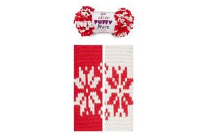 Puffy More 6286 - béžová a červená
