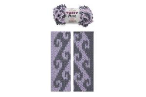 Puffy More 6285 - fialová a šedá