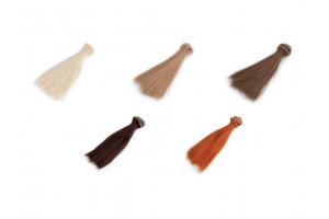 Parochňa / vlasy pre bábiky 15 cm