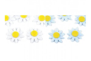 Filcový kvet  Ø 30 mm - margarétka, slnečnica