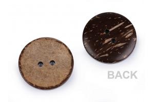 Gombík drevený - kokos obojstranný