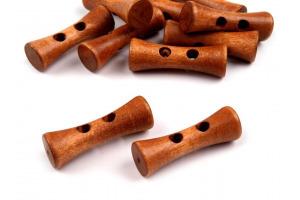 Gombík drevený - Kostička - 35mm