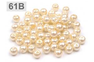 Voskované perly - Ø6 mm - 50g