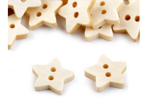 Gombík drevený - Hviezda - Ø18mm