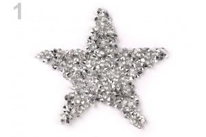Nažehlovacia hviezda s kamienkami