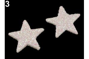 Vianočná hviezda s flitrami Ø30mm