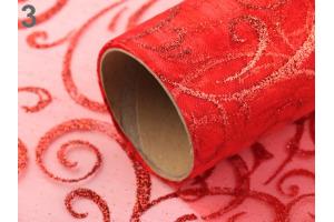 Organza svadobná/vianočná s flitrami