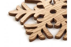 Vianočná drevená dekorácia