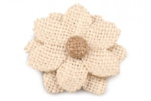 Jutový kvet s lupeňmi - Ø60 mm