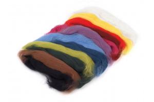 Ovčie rúno mix farieb- sada 50 g