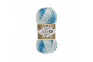 Diva Batik 2130 - modro-biela