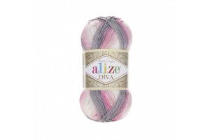 Diva Batik 3245 - ružovo-sivá