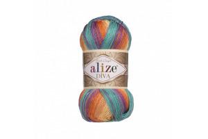 Diva Batik 7074 - fialovo-oranžovo-modrá