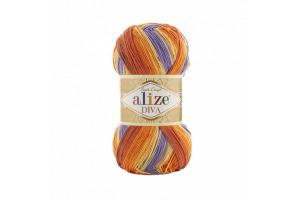 Diva Batik 7398 - oranžovo-krémovo-fialová