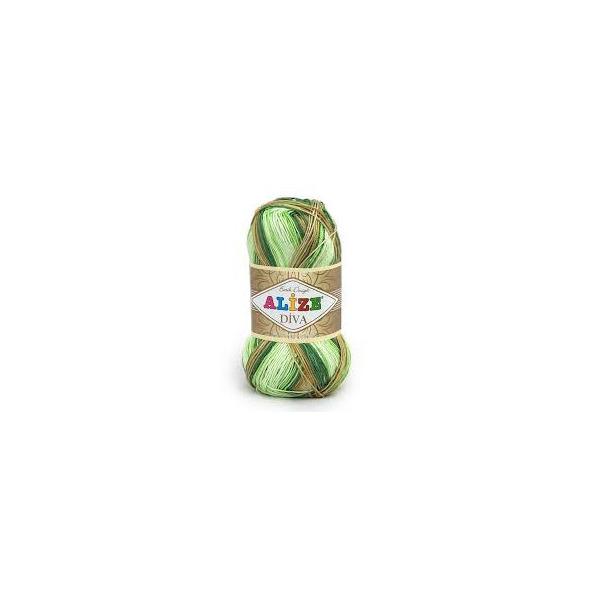 Diva Batik 5944 - krémovo-zeleno-hnedá