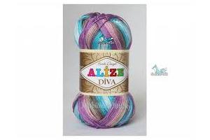 Diva Batik 5553 - ružovo-fialovo-tyrkysová