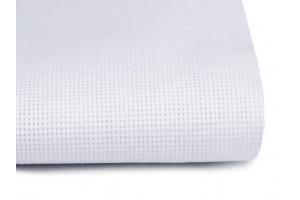 Vyšívacia tkanina Panamka biela - šírka 140 mm