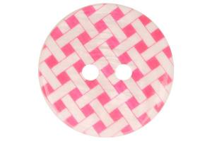 Gombík plastový farebné štvorčeky -  Ø 15mm