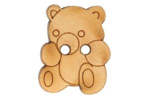 Gombík drevený - Medvedík