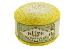Bella ombré batik 7414 - žlté odtiene