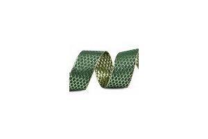 Stuha vianočná - s lurexom 40mm - zelená