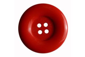 Gombík plastový - Červený Ø18 mm - Hrubý okraj