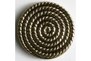 Gombík kovový - Špirála - Ø 14mm - zlatá