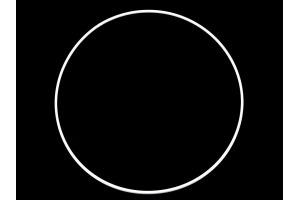 Kovový kruh Ø25 cm na lapač snov/dekorovanie