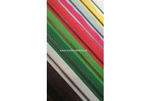 Zips vetrovkový, kosticový - KOV - 65 cm