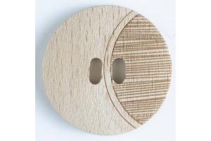 Gombík drevený -  Dvojdierkový  Ø28 mm