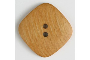 Gombík drevený -  Dvojdierkový  45mm
