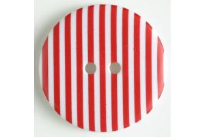 Gombík plastový - S prúžkami  Ø 20 mm