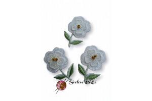 Aplikácia - nášivka Kvet  3,5 cm