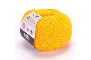 Jeans 35 - tmavo-žltá