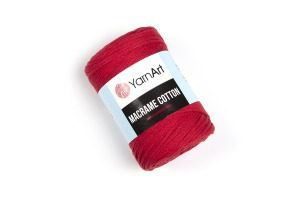 Macrame Cotton 773 - červená