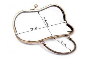 Rámček na výrobu kabelky našívací 19,5x13 cm - s rúčkou