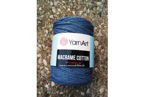 Macrame Cotton 761 - modrošedá