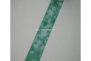 Stuha vianočná - snehové vločky 40 mm
