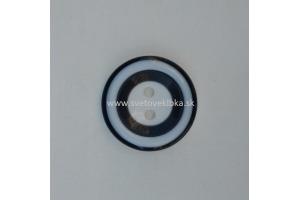 Gombík plastový - Čiernobiele kruhy - Ø28mm