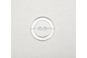 Gombík plastový - Transparentný- Ø20mm