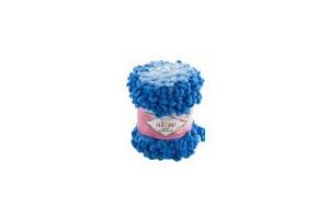 Puffy ombre batik 7422 - modrá