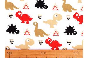 Látka bavlnená -dinosaurus