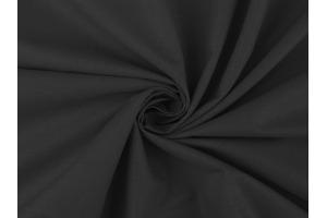 Látka bavlnená - jednofarebná čierna