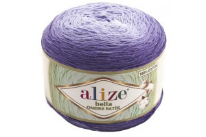 Bella ombré batik 7406 - fialové odtiene