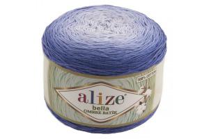 Bella ombré batik 7407 - modré odtiene